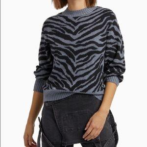 NWT Rebecca Minkoff Jax Zebra Intarsia Sweater XXL